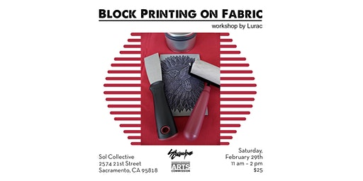 Block Printing on Fabric Workshop