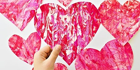 EXPERIENCE Art @ POPPY with DIY Marbelized Valentines (3-5 yrs.) tickets