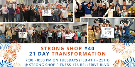40th 21 Day Transformation at Strong Shop! tickets