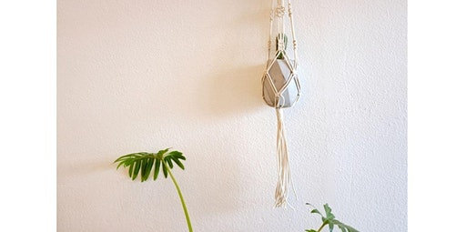 Make Your Own Modern Macrame Plant Hanger with Geometric Cement Pot Included (03-26-2020 starts at 7:00 PM)
