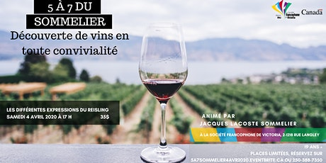 5 à 7 du Sommelier 4 avril 2020 billets