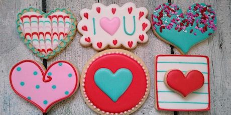 Valentine's Day Beginner Level Cookie Decorating Class tickets