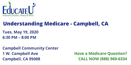 Campbell  5/19/20 - Understanding Medicare Workshop tickets