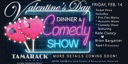 Valentine's Dinner, Comedy & Acoustic Tunes