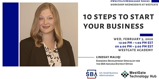 Workshop Wednesdays @WestGate: 10 steps to start your business