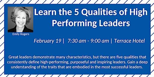 FPRA February Meeting: 5 Qualities of High Performing Leaders