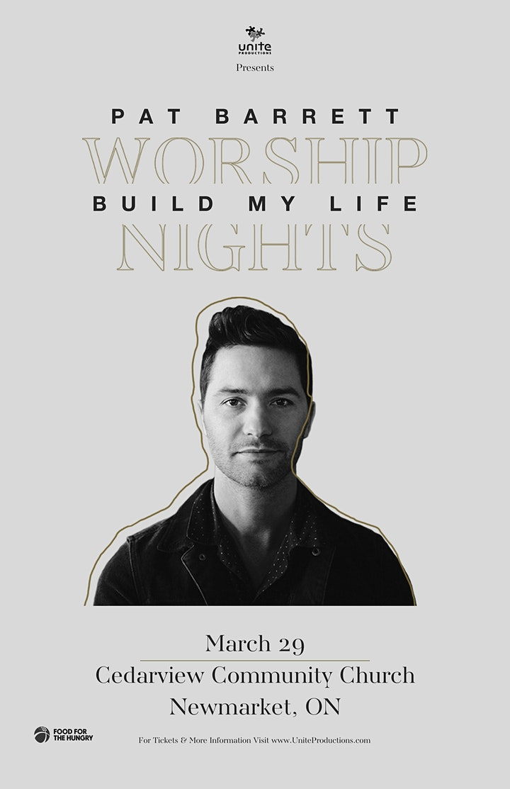 30/03 - Barrie - Pat Barrett Build My Life Worship Nights image