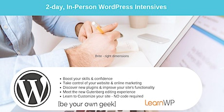 WordPress Intensive Workshop [2-Day] in Toronto | In-Person | LearnWP tickets