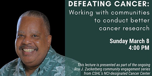 Public lecture - DEFEATING CANCER: Working with communities to conduct better cancer research