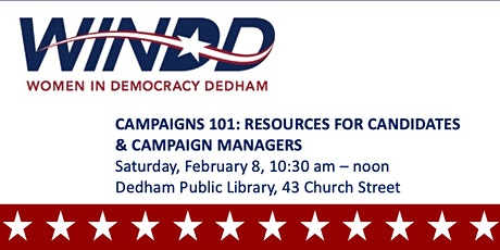 CAMPAIGNS 101: RESOURCES FOR CANDIDATES AND CAMPAIGN MANAGERS tickets