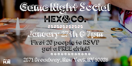 MJE Game Night Social | Free Drink for First 20 RSVP | 20s & 30s tickets