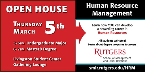 Spring 2020 Rutgers Human Resource Management (HRM) Open House