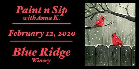 Paint n Sip- Cardinals @ Blue Ridge! tickets