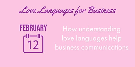 Love Languages for Business tickets