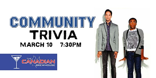 Community Trivia - March 10, 7:30pm - CBH Ellerslie