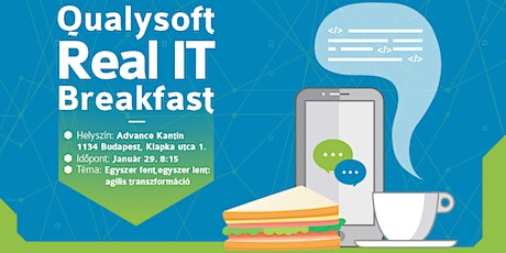 Qualysoft Real IT Breakfast - Agilis Transzformáció tickets