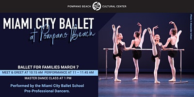 Miami City Ballet's BALLET FOR FAMILIES