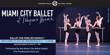 Miami City Ballet's BALLET FOR FAMILIES tickets