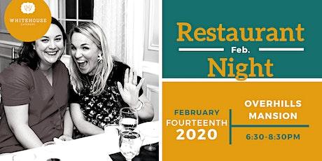 Restaurant Night at Overhills Mansion tickets