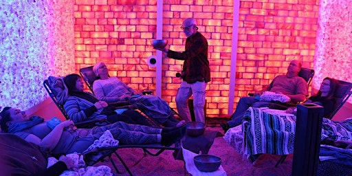 Salt Room Sound Therapy with Singing Bowls
