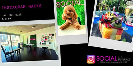 """Instagram Hacks"" Social Media Training by Social Behavior tickets"
