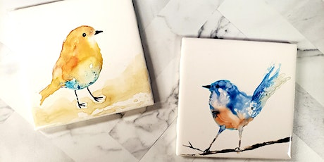 Watercolor Bird Make n Take tickets