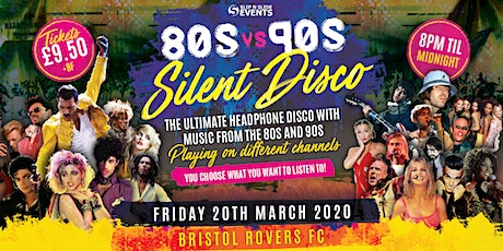 80s vs 90s Silent Disco in Bristol tickets