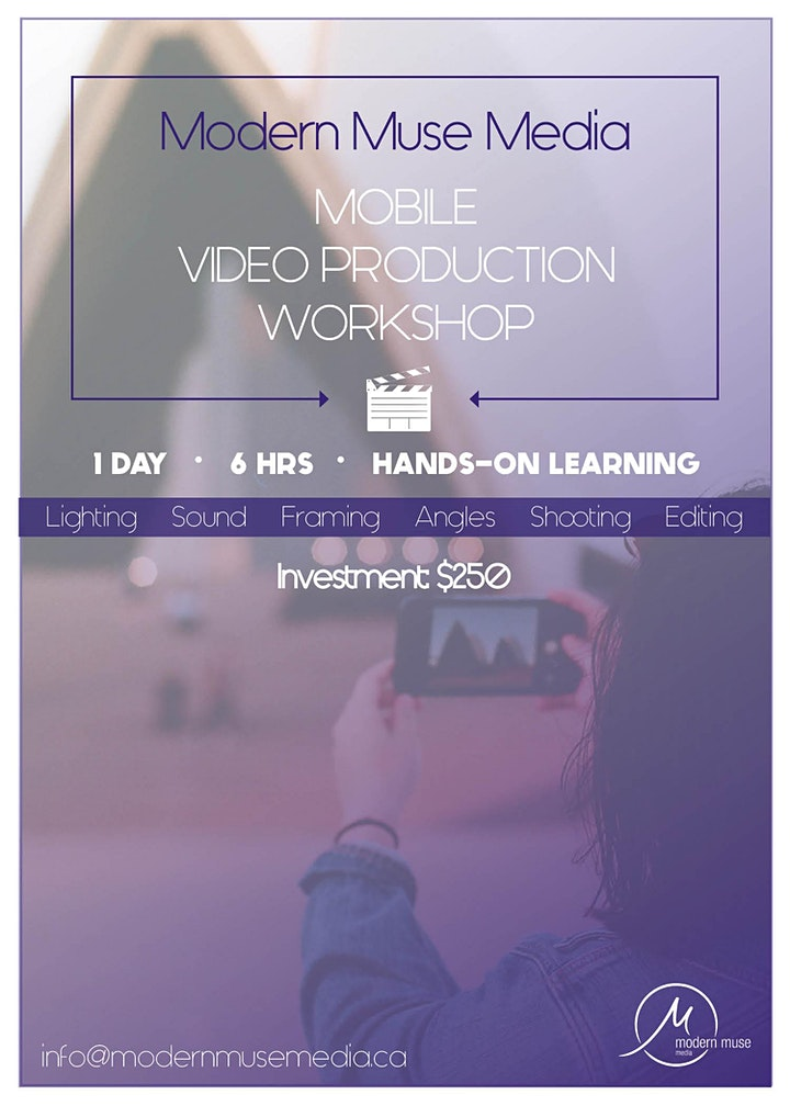 ONLINE Mobile Video Production Workshop image