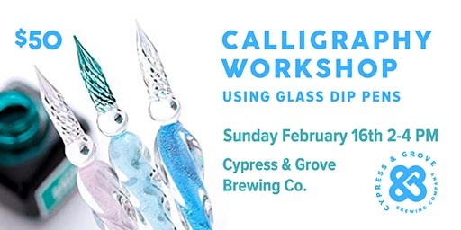 Glass Pen Calligraphy Workshop