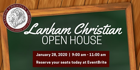 Lanham Christian School Jan 28th Open House tickets