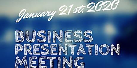 Business Presentation Meeting tickets