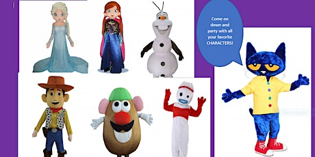CHARACTER DAY EXPLOSION: TOY STORY to FROZEN (plus other popular characters).  tickets