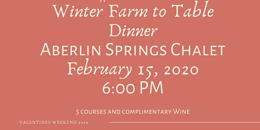Winter Farm To Table Dinner at Aberlin Springs