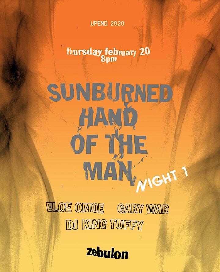 Sunburned Hand of the Man (Night One), Eloe Omoe, Gary War image