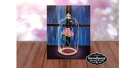 Paint and Sip - Step by Step Class - Enchanted Rose (05-02-2020 starts at 6:30 PM) tickets