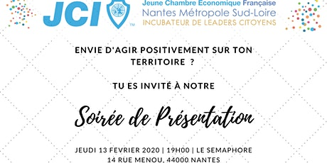 Soirée de présentation de la JCE Nantes Métropole Sud Loire billets
