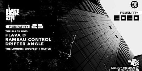 Flava D w/ Rameau Control, Drifter Angle (Electronic Tuesdays) tickets