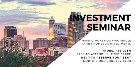 Raleigh Seminar: Making Money Owning Single Family Homes As Investments tickets