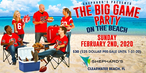 Big Game Tailgate Party on the Beach