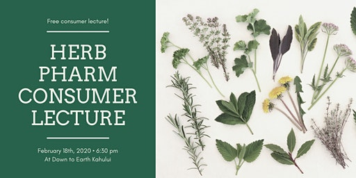 Kahului: Free Herb Pharm Consumer Lecture