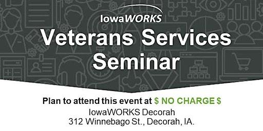 Veterans Services Seminar