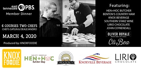 East Tennessee PBS Member Dinner Produced by KnoxFoodie tickets
