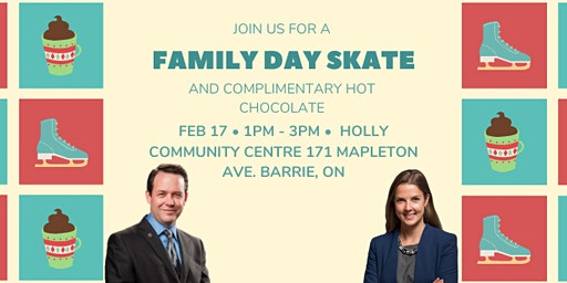 Family Day Skate with your Barrie MPPs