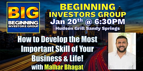 Learn the #1 Skill Needed To Have More Success in Life at BIG with Malhar Bhagat tickets