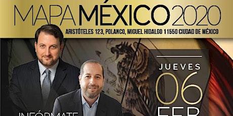 MAPA MEXICO 2020 boletos