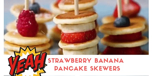 STRAWBERRY BANANA PANCAKE SKEWERS - Cooking Lab per bambini