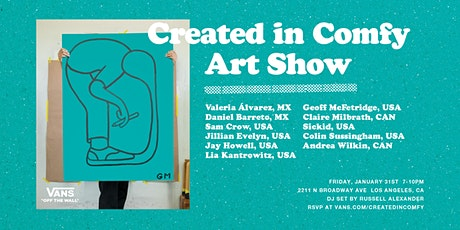 Created In Comfy Art Show tickets