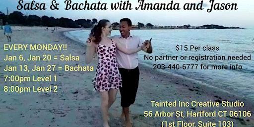 Salsa and Bachata Mondays with Amanda & Jason