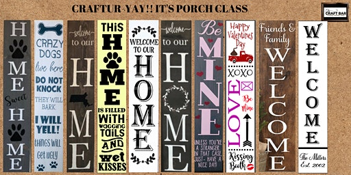 CRAFTUR-YAY - PORCH SIGNS ARE BACK w/NEW DESIGNS!