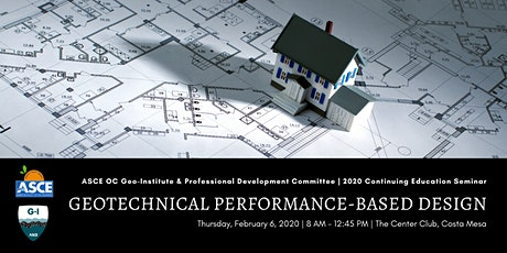 OC Geo-Institute and Professional Development Committee - Geotechnical Performance-Based Design tickets
